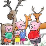 4 świnki_losie_sarny_jelenie